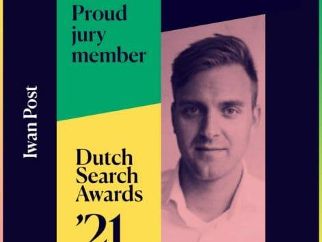 Iwan is lid van Dutch Search Awards 2021
