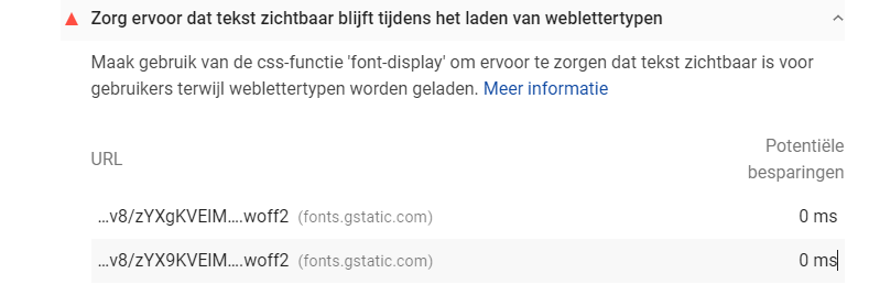 externe fonts lokaal gaan inladen