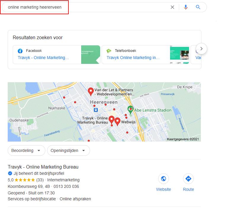 Lokale SEO SERP